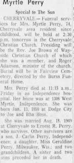 Obituary for Myrtle Perry M Specizil (Aged 74) - Newspapers.com