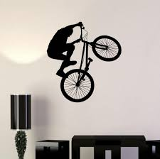 Bicycle Bike Cyclist Bmx Sport Extreme Wall Decal Vinyl Sticker For Living Room Home Wall Decoration Decorating Decals Decorating Stickers From Onlybrand 4 91 Dhgate Com