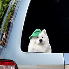 Samoyed Sticker Car Decal Samoyed Decal Window Decal Atc Decal Tumbler Sticker Samoyed Car Decal Peep Dog Pet Decal Dog Sticker In 2020 Oracal Vinyl Car Decals Stickers Car Decals