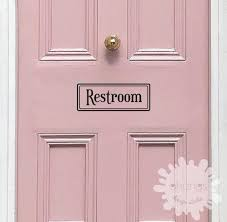 Restroom Decal Laundry Decal Door Decal Pantry Custom Etsy