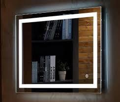 wall mount led lighted bathroom mirror