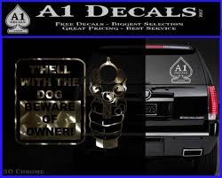 Beware Of Owner Decal Sticker Gun A1 Decals