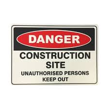 Brutus 450 X 300mm Construction Site Safety Sign Bunnings Warehouse