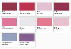 pink paint colour chart trinity