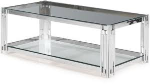 vasari coffee table glass and chrome