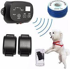 Amazon Com Leepra Kd660 Waterproof Rechargeable Pet Dog Electronic Fencing System Shock Collars Leepra Pet Supplies