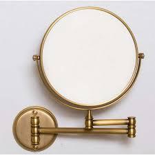 wall hung brass shaving mirror simply