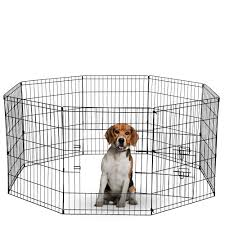 Paws Pals Dog Exercise Pen Pet Playpens For Dogs Puppy Playpen Outdoor Back Or Front Yard Fence Cage Fencing Doggie Rabbit Cats Playpens Outside Fences With Door Metal Wire