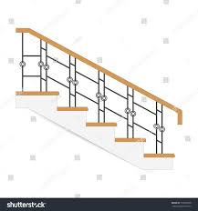 Royalty Free Sketch Stair Icon Sample Ladder With Forged 519805828 Stock Vector Imageric Com