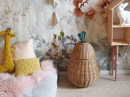 A Fun Way To Keep The Children S Room Tidy Apple And Pear Braided Basket Kids Design By Ferm Living Interior 3000