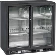 dellware back bar fridge with 2 sliding