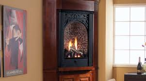 right corner gas fireplace insert