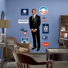 Fathead Barack Obama Peel And Stick Wall Graphic