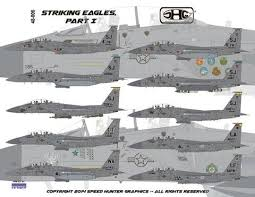 Speed Hunter Graphics 48006 1 48 Decal F 15e Striking Eagles Revell Victory Models