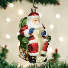 old world blown glass santa