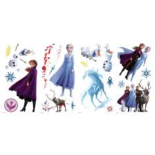 Frozen 2 Ii Peel Stick 21 Wall Decals Girls Room Decor Elsa Anna Olaf Stickers Walmart Com Walmart Com