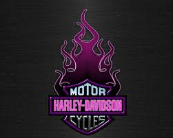 purple harley davidson logo wallpaper