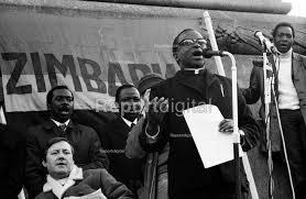 Report digital photojournalism - 1972 Majority Rule for Zimbabwe Now  protest, Trafalgar Square, London Bishop Abel Muzorewa speaking - MIke Tull  - 197...