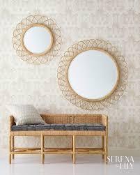 rattan border keeps these mirrors