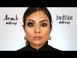 arab makeup vs indian makeup you