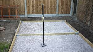 how to make a concrete shed base you
