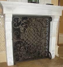 hand forged custom fireplace screens