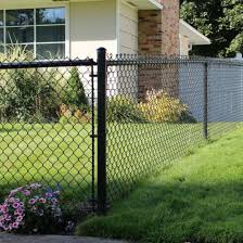China Black Color Pvc Coated And Galvanized Garden Chain Link Fencing China Garden Fencing Chain Link Garden Fencing