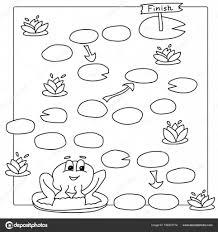 Spel Sjabloon Met Kikker Vector Boek Kleurplaten Voor Kinderen