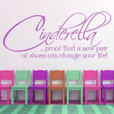 Cinderella Fashion Quote Wall Decal Sticker Ws 17697 Ebay