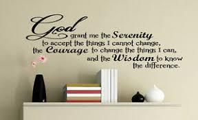 Serenity Prayer Vinyl Decor Decal Wall Sticker God Words Aa Bible Lettering Ebay