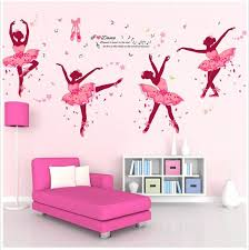 Removable Diy Pink Ballerina Wall Stickers Ballet Dacing Girl Vinyl Home Decal For Sale Online Ebay