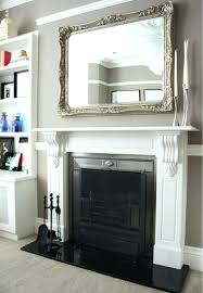 mirror above fireplace height