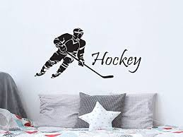 Amazon Com Hockey Wall Decal Sports Hokeist Wall Decals Vinyl Stickers Teens Boys Nursery Baby Room Home Decor Art Bedroom Design Interior C248 Home Kitchen