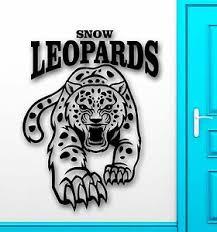 Wall Sticker Vinyl Decal Snow Leopard Predator Animal Tribal Decor Ig2237 Ebay
