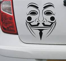 V For Vendetta Decal 3 Anonymous Guy Fawkes Legion Mask Car Vinyl Sticker Vinyl Decal Stickers Vinyl Sticker Vinyl Decals