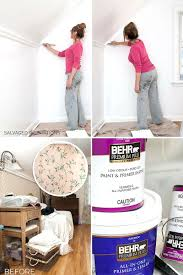 how to paint over wallpaper salvaged
