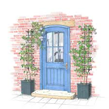 harrod narrow decorative wall trellis