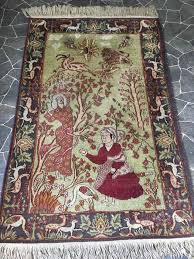 very old hand knotted persian rug