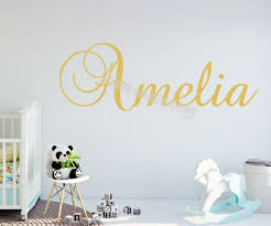 Customize Child Artistic Font Wall Stickers Personalized Custom Name Decal Kids Room Nursery Baby Calligraphy Decor Mural Eb536 Wall Stickers Aliexpress