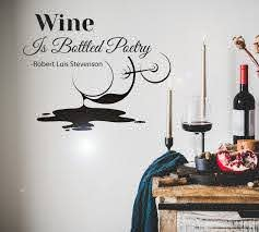 Vinyl Wall Decal Words Wine Glass Vine Kithen Decor Stickers Mural 22 Wallstickers4you