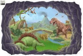 Dinosaur Adventures Mural Boys Room Mural