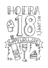 Verjaardag 18 Handlettering Ts Kaartje2go