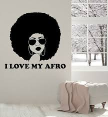 Vinyl Wall Decal Beautiful Black Lady Afro Quote Woman Room Stickers Ig5264 Ebay