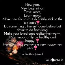 new year new beginnings quotes writings by pankhuri