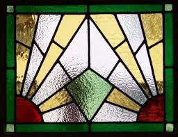 art deco stained glass patterns art