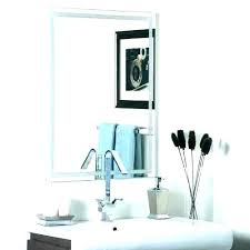 how to hang a large bathroom mirror