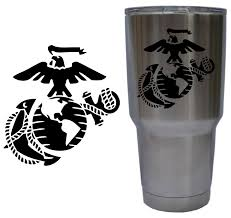 United States Marine Corps Eagle Globe And Anchor Usmc Ega Decal For Yeti 30 Oz Rambler Tumbler Cup Decal Only Glossy Permanen Diy Cups Cup Decal Usmc Decal