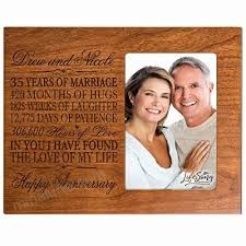 wedding anniversary picture frame gift