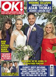 Emmerdale's Adam Thomas marries girlfriend Caroline Daly in ...