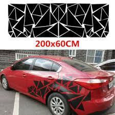 Car Body Side Geometric Triangle Graphics Decal Sticker Vinyl Glossy 200x60cm